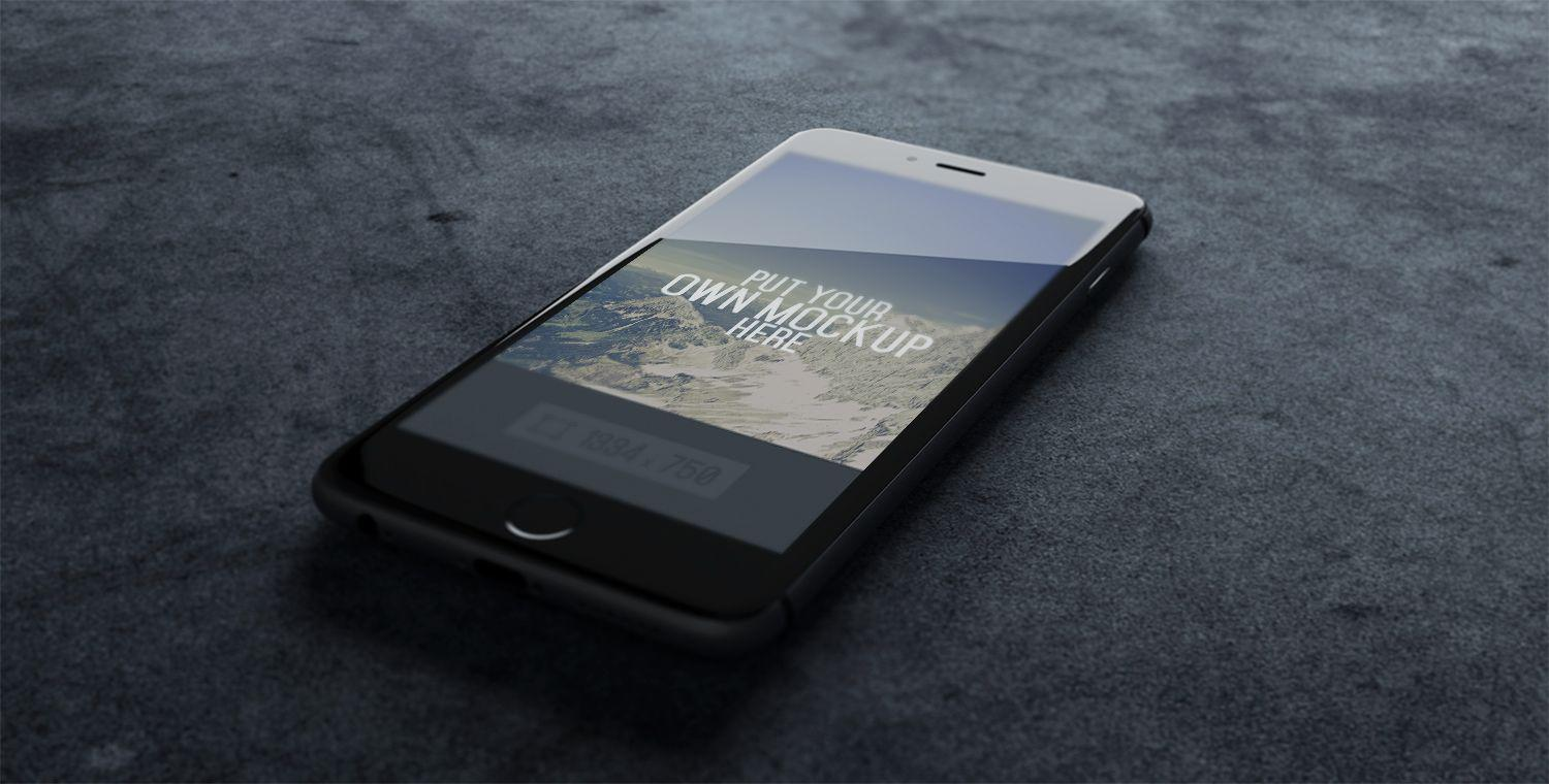 iPhone-Black-PSD-mockup