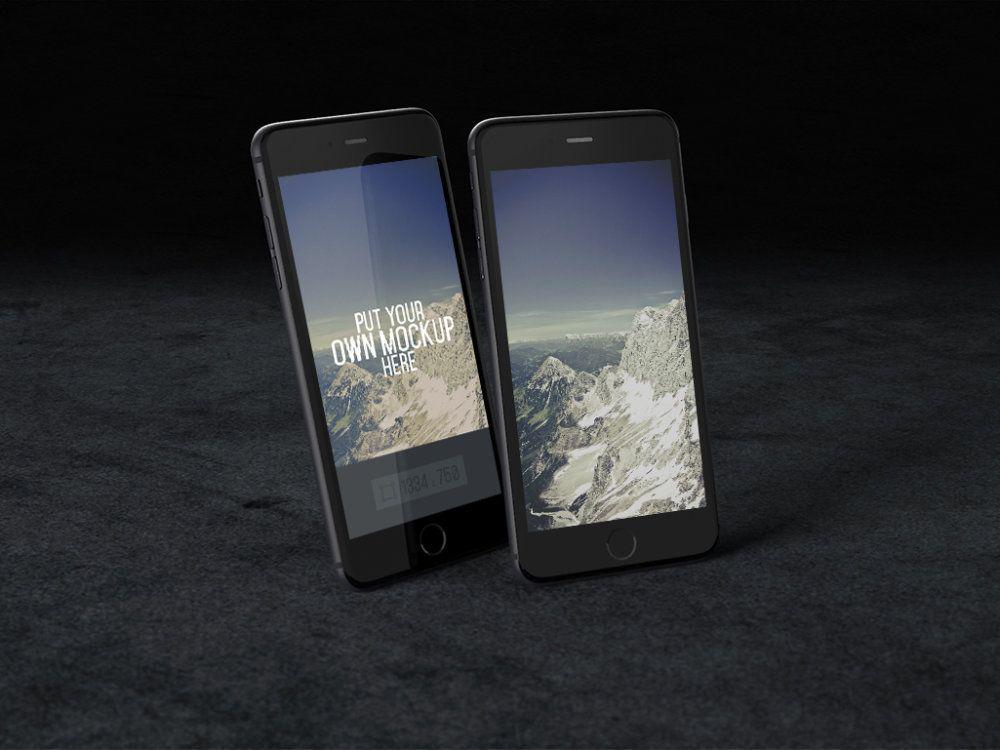 iPhone-Black-PSD-mockup