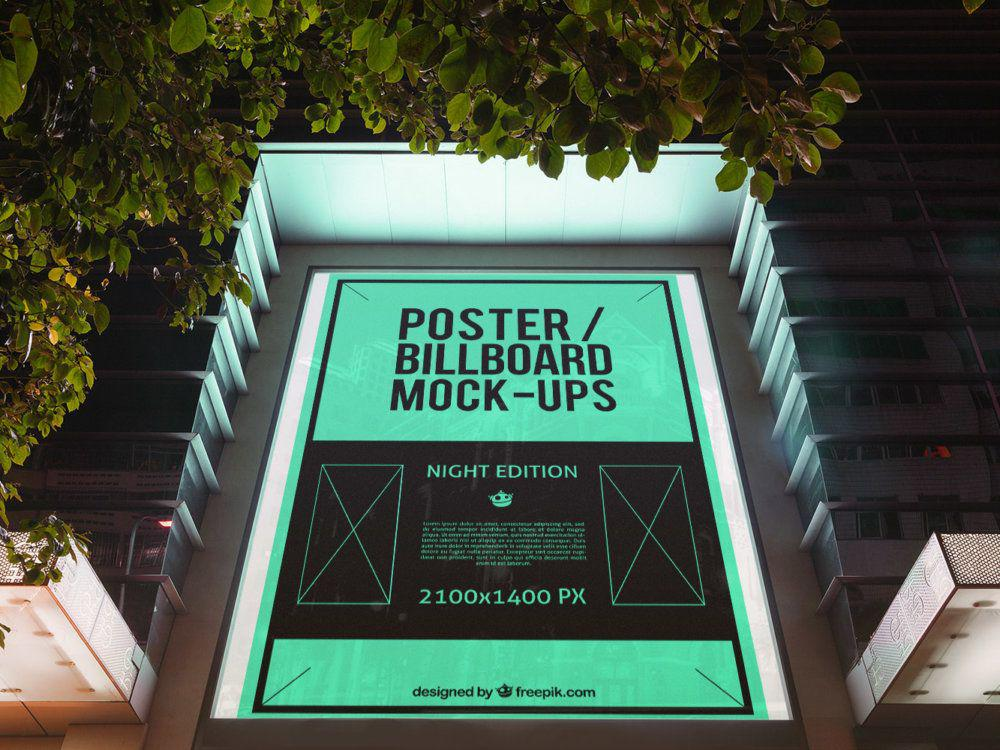 10 Urban Poster Billboard MockUps
