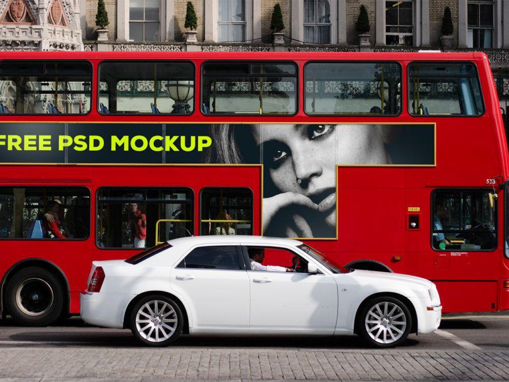 Bus Ad Free Mockup