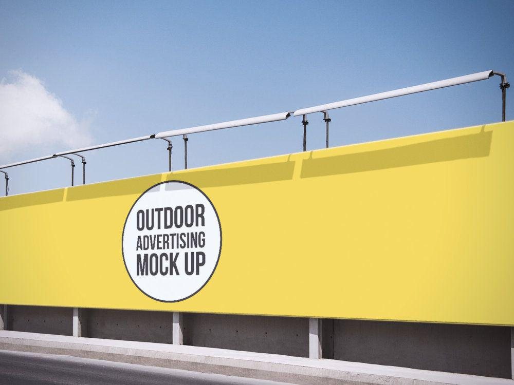 Outdoor Advertising Billboard Free Mockup