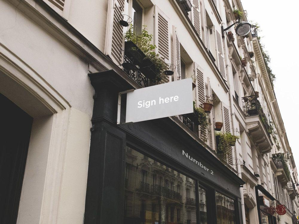 5 Signs and Facades MockUps