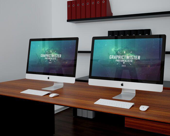 double-imac-office-free-mockup