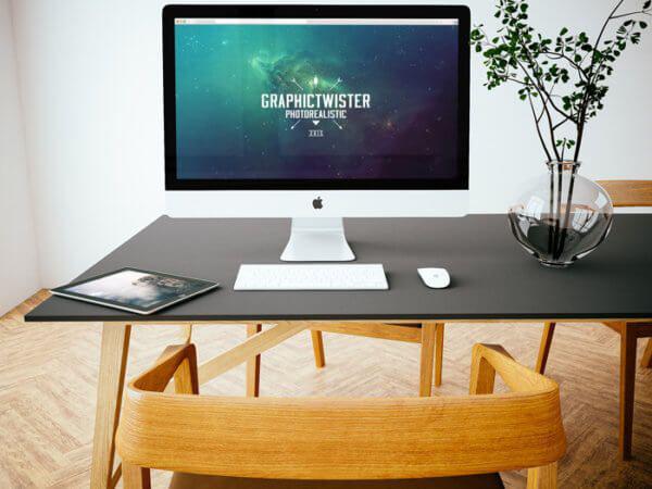 iMac and iPad Mockup