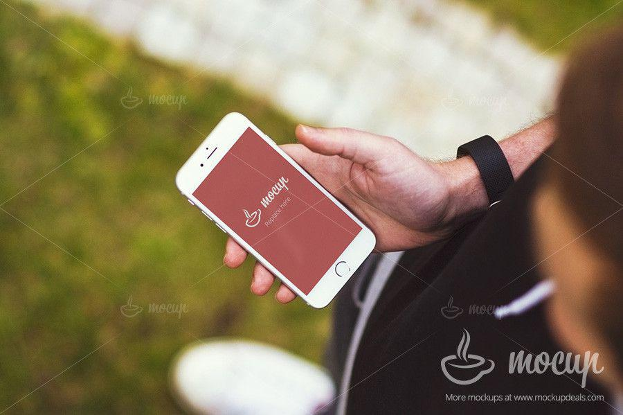 iphone-6-central-park-grass-free-psd-mockup