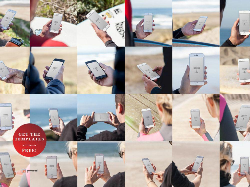 surf-themed template pack for iPhone 6