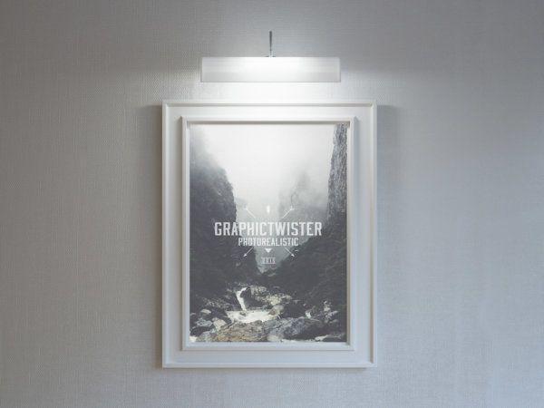 stylish poster frame mockup