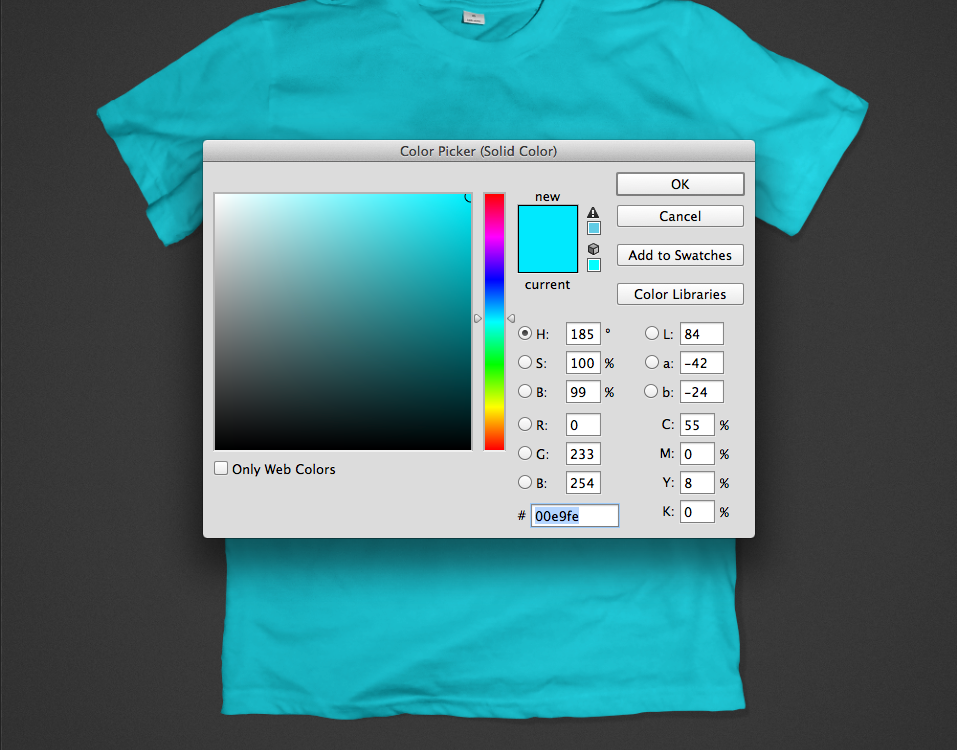 Colored T-Shirt Mockup
