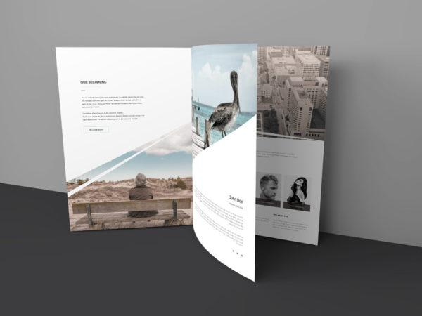 Three Pages Brochure Mockup