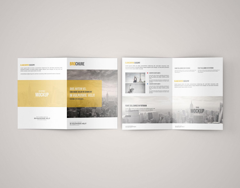Free Bi-Fold Brochure Mockup PSD | Mockuptree