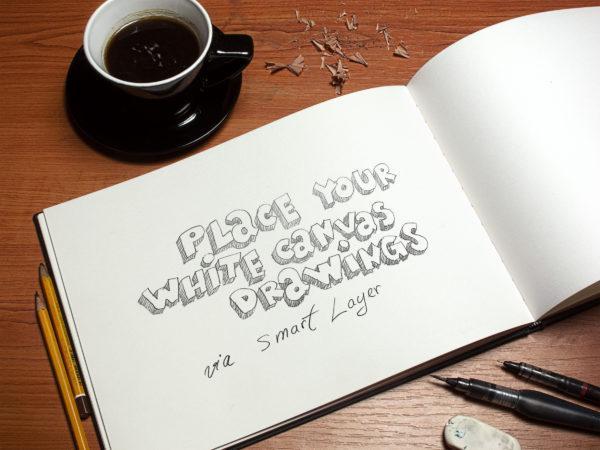 Sketchbook and Coffee Mockup