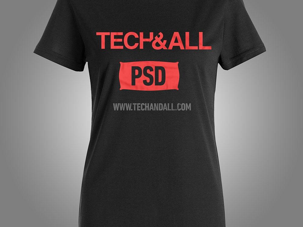 Female T-Shirt PSD Mockup