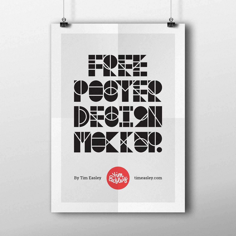 6 poster design photo mockups -  Free Poster Design Mockup 6