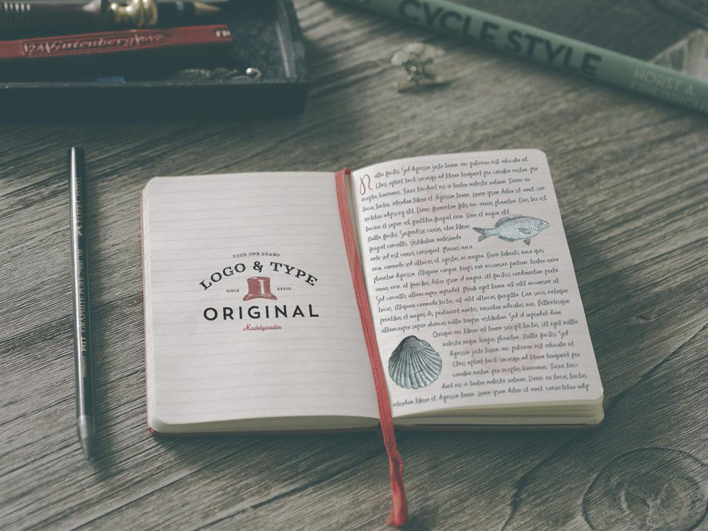 Sketchbook Free Mockup