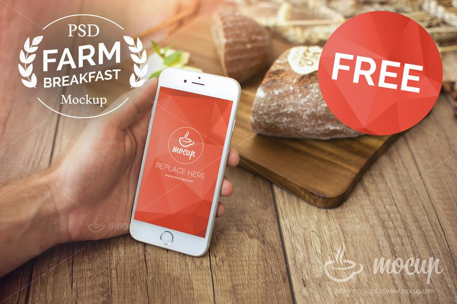 Farm Breakfast iPhone 6 Mockup
