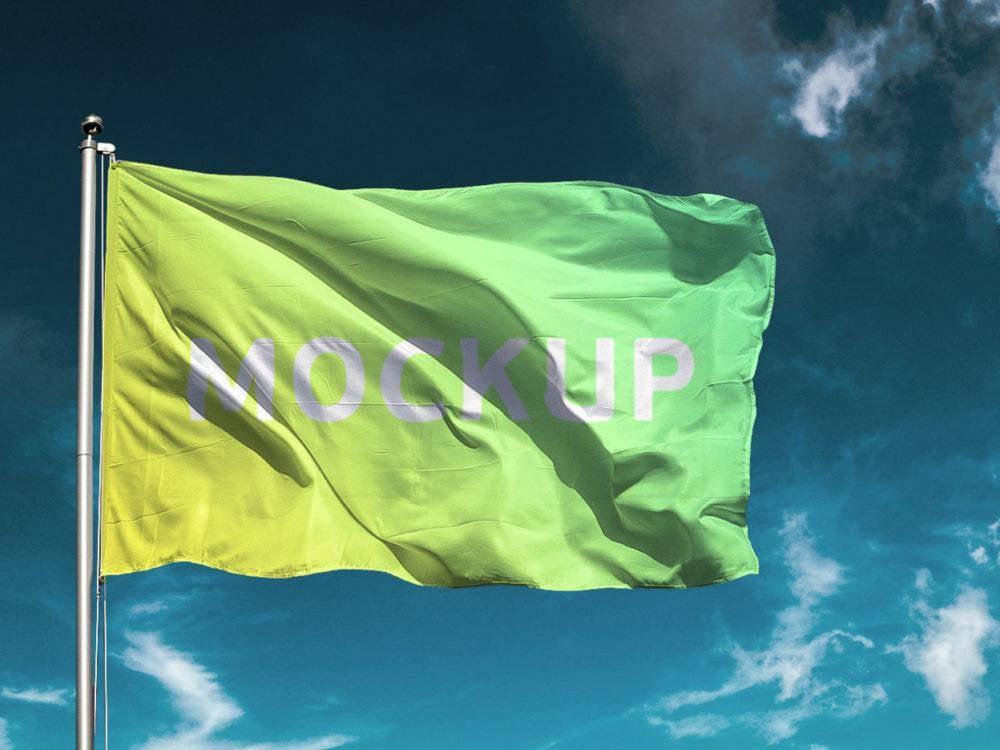 free-flag-mockup