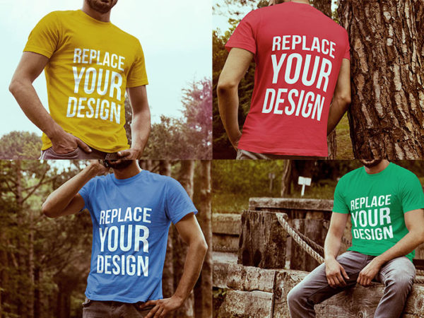 4 Free T-shirt Mockup Templates