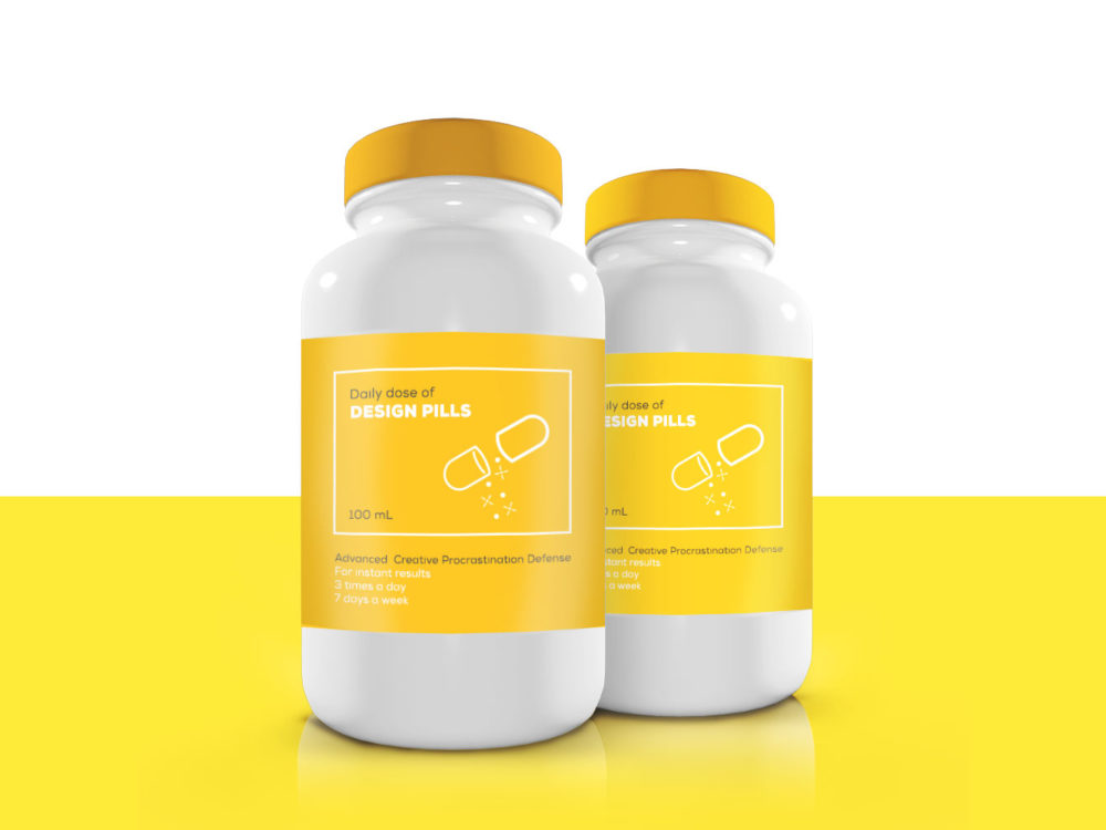 Pills Bottle Free Mockup