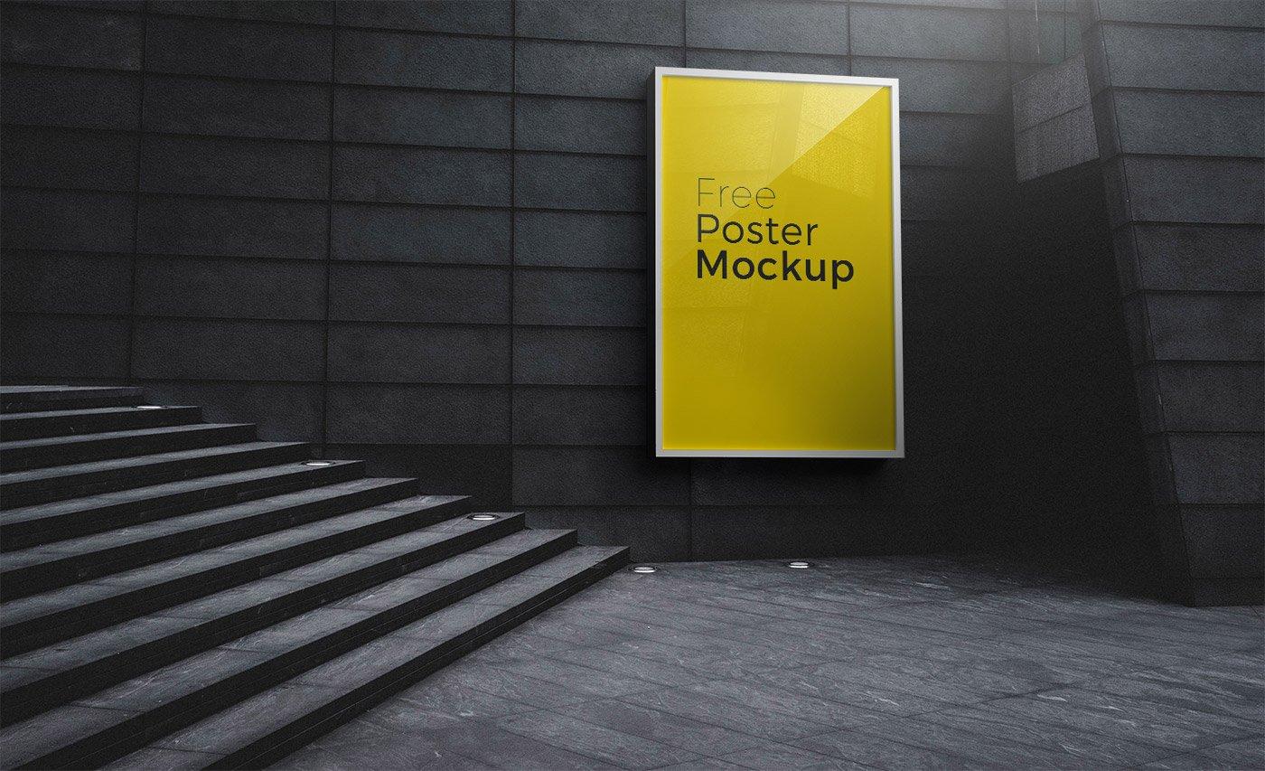 Poster and Billboard Free Mockups | Free Mockup