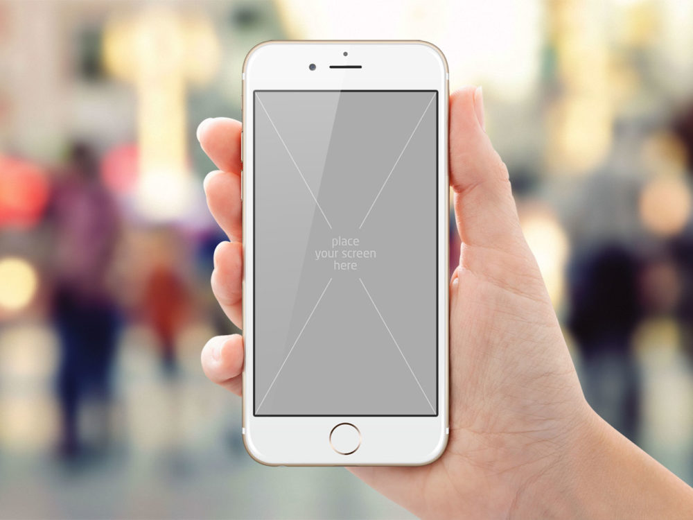 Free Black and White iPhone 6/6s Mockup PSD