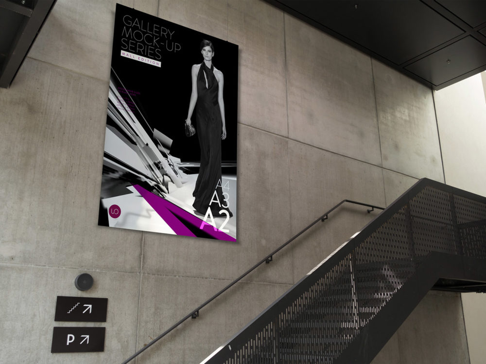 mall poster billboard mockup