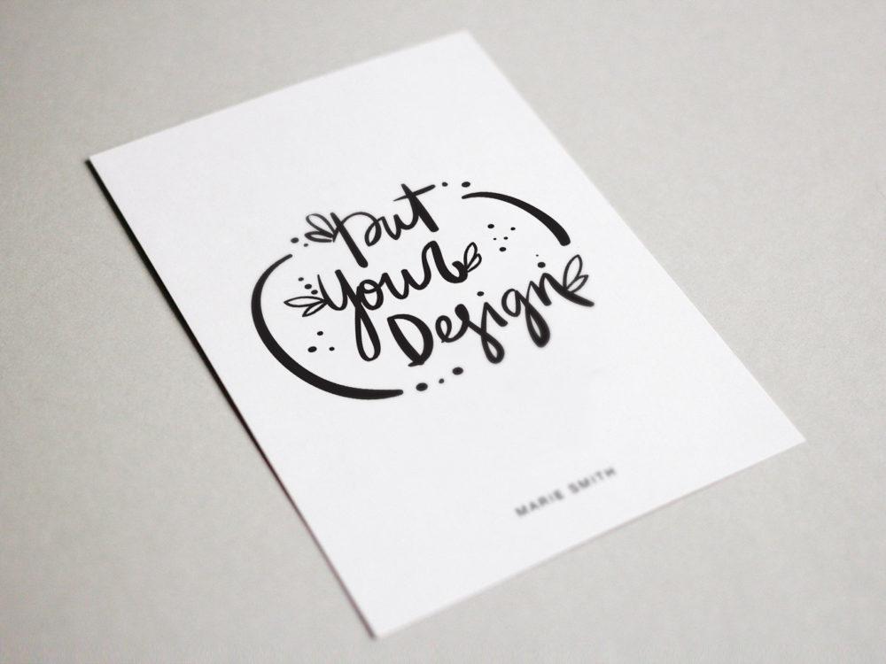Postcard Free PSD Mockup