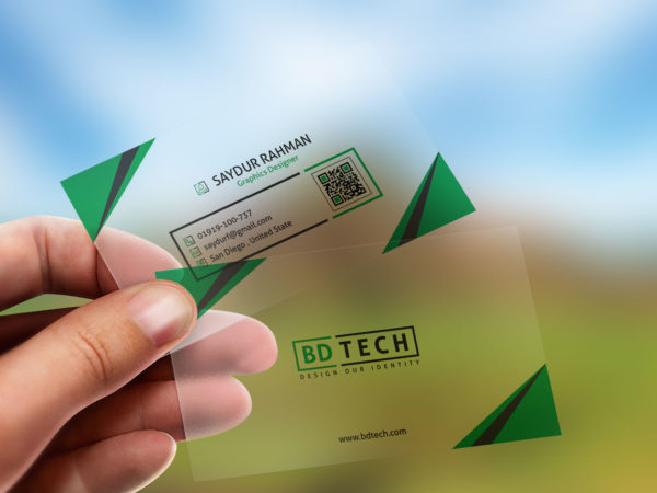 Translucent-plastic-business-card-mockup