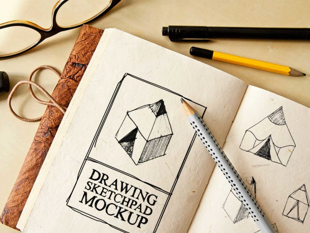 Drawing-Sketch-Pad-Free-PSD-Mockup
