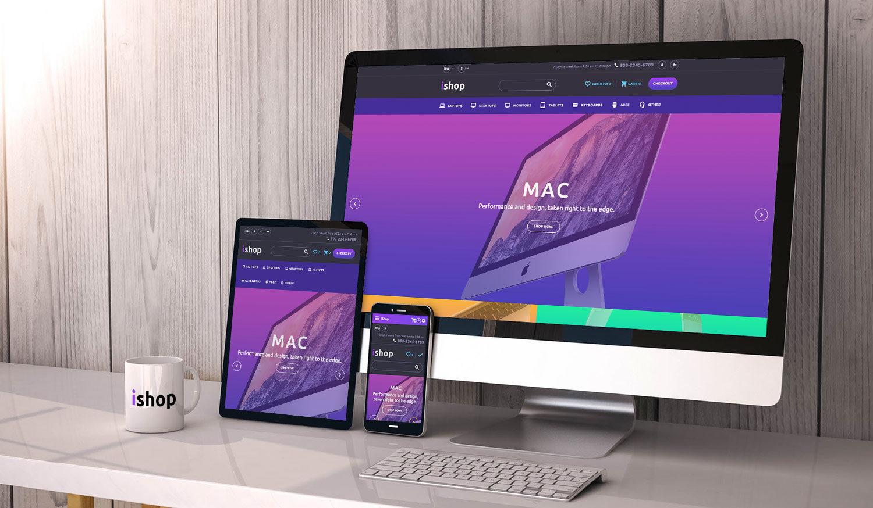 imac  ipad  iphone responsive website free mockup