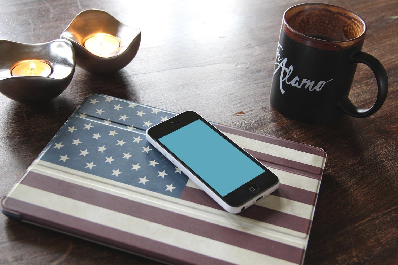 iphone 5c and ipad air  u2013 free psd mockups