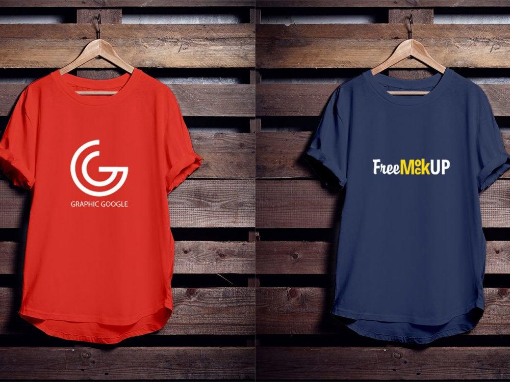 Hanging-T-Shirt-Free-PSD-Mockup
