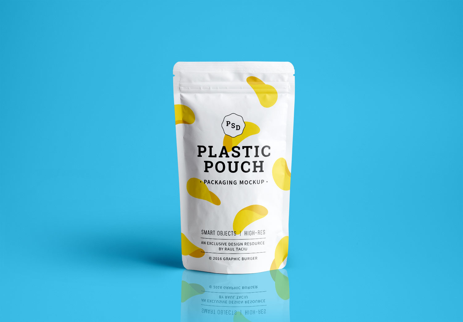 Download Plastic Pouch Packaging - Free PSD Mockup   Free Mockup Free Mockups