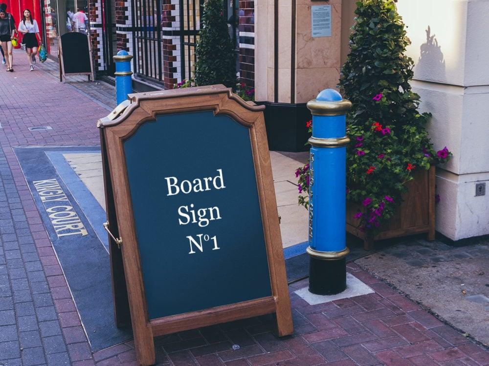 2 Signs Free PSD Mockups