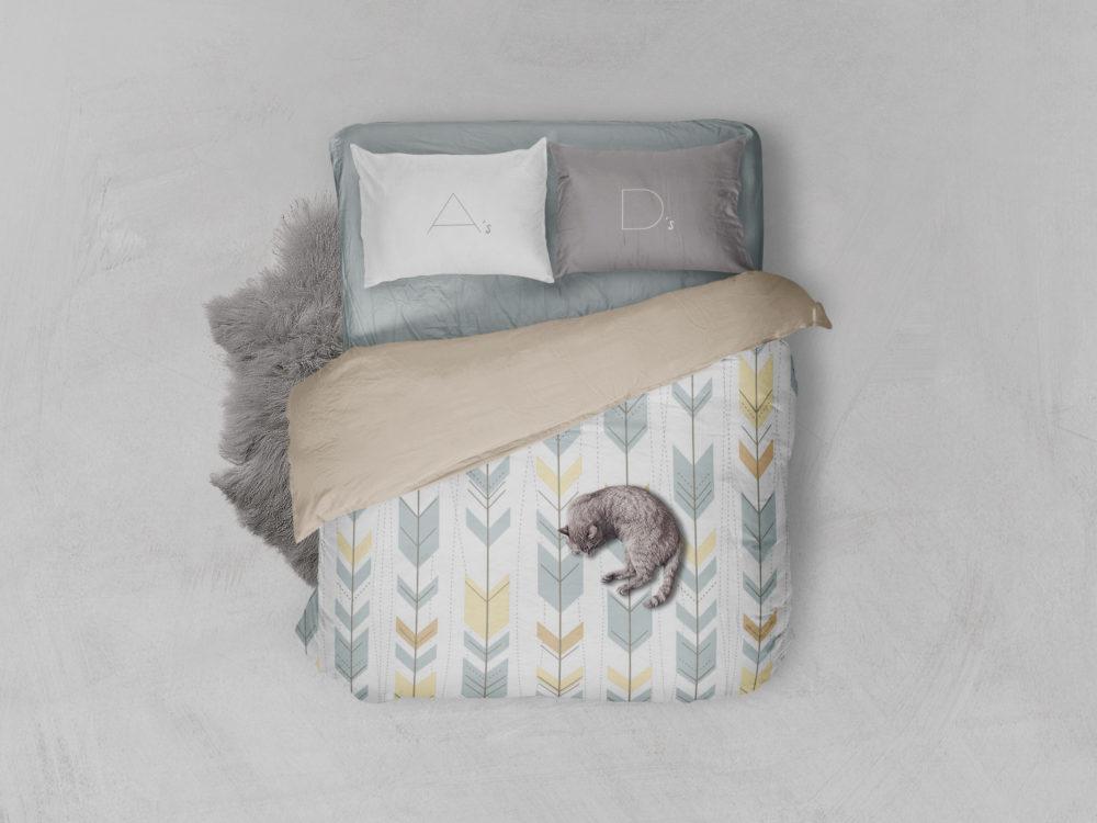 Bed Linen – Free PSD Mockup