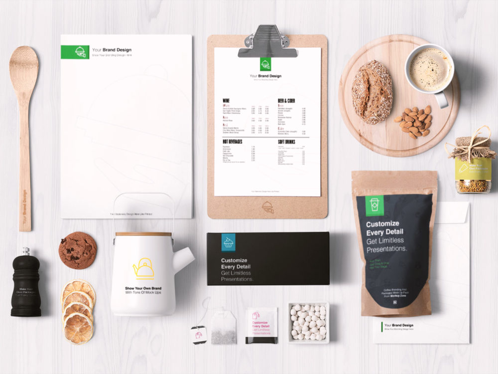 Food Packaging and Branding Free Mockups