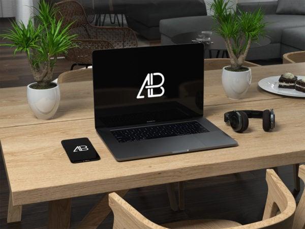MacBook Pro 2016 Free PSD Mockup
