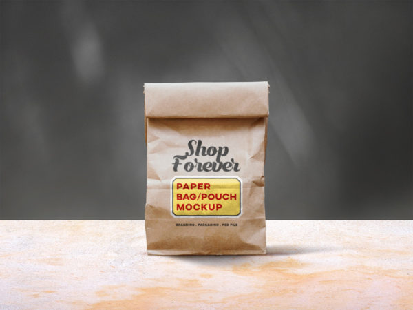 Paper Bag/Pouch Free PSD Mockup