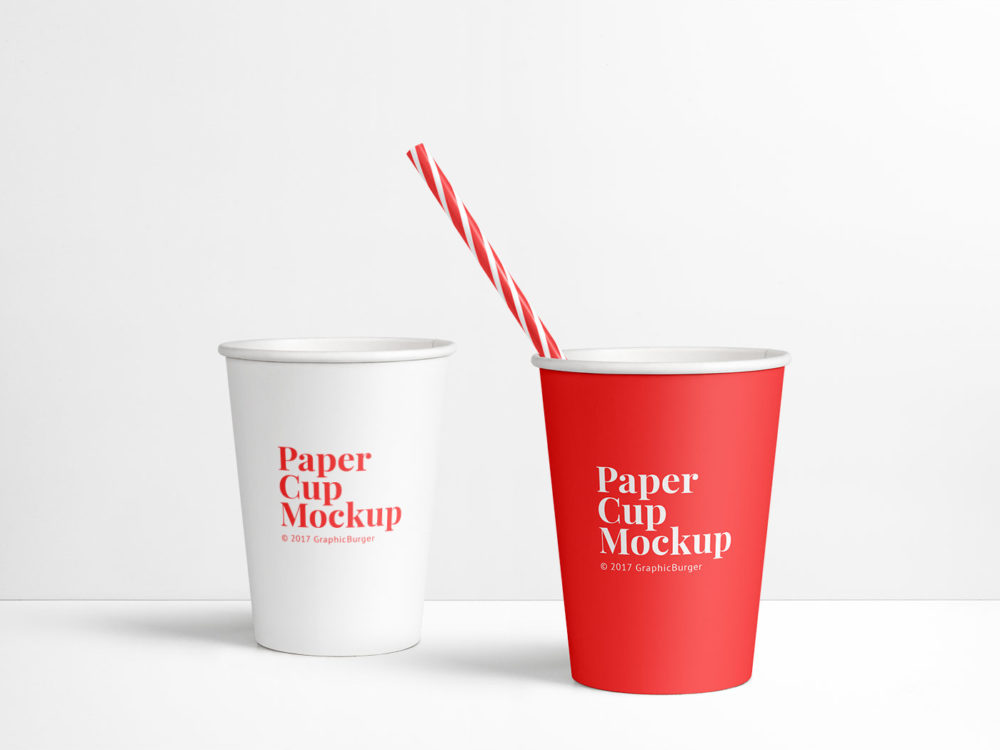 Paper Cup Free PSD Mockup