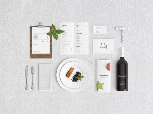 Restaurant Branding Free PSD Mockup