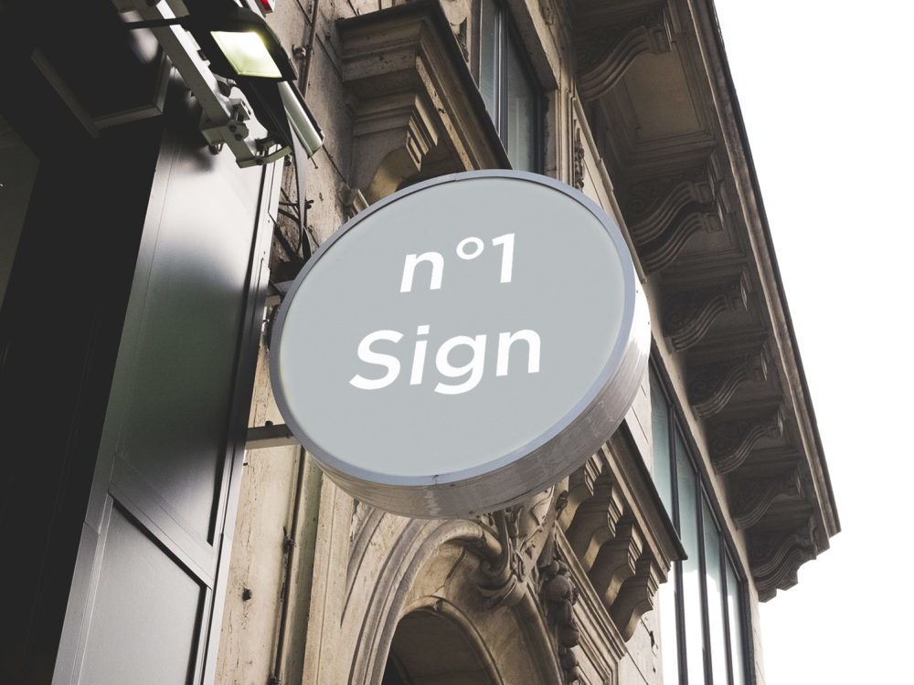 Sign and Facade Free PSD Mockup