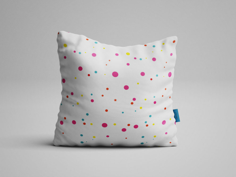 Fabric Square Pillow Free PSD Mockup