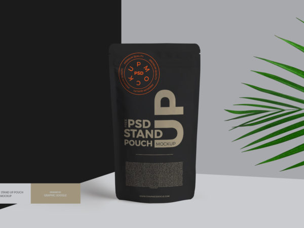 Stand Up Pouch Free PSD Mockup