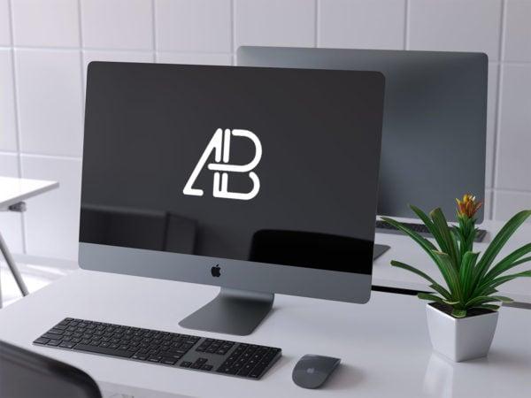 iMac Pro 2017 Free PSD Mockup