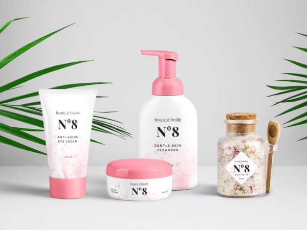 Cosmetics Packaging PSD Mockups