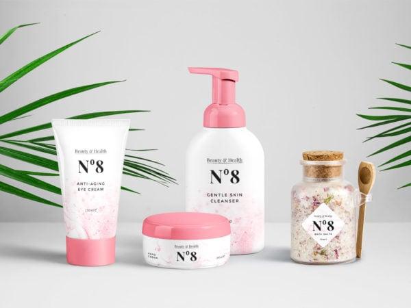 Cosmetics Packaging PSD Mockups