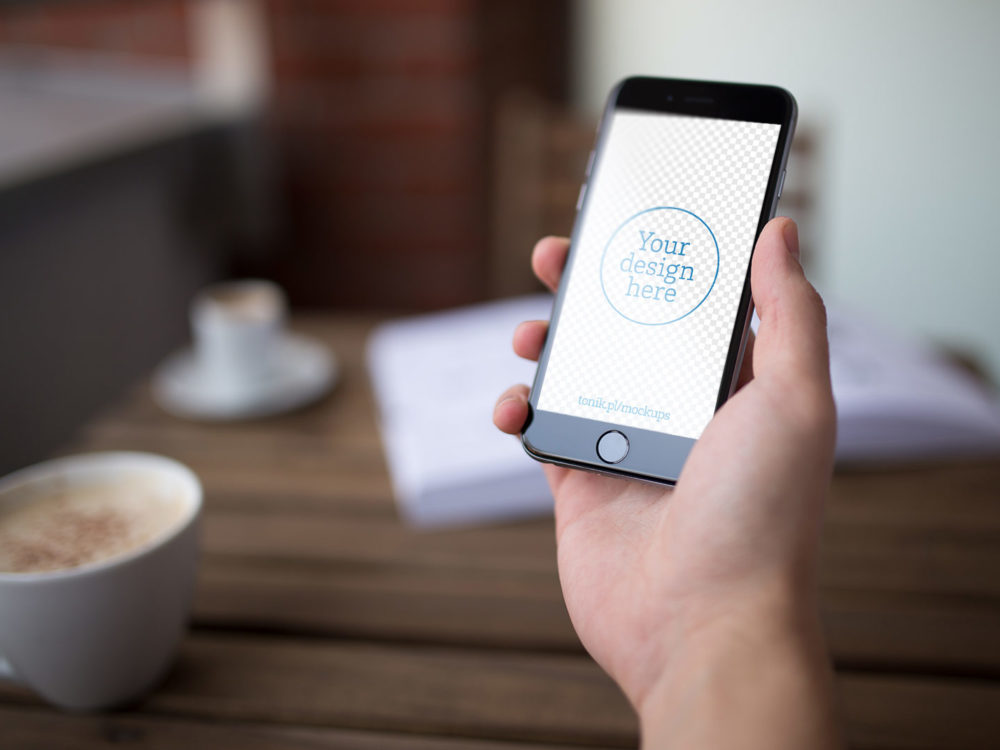 Free iPhone 6 PSD Mockup