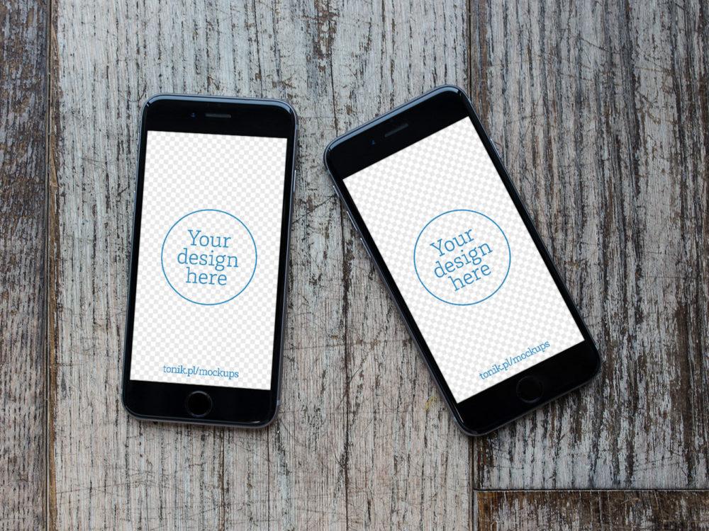 Free iPhone 6 PSD Mockup