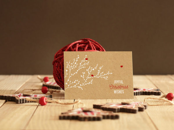 Invitation Greeting Card Free Mockup
