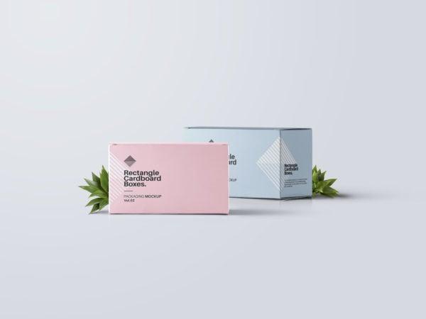 Rectangular Cardboard Box Free Mockup