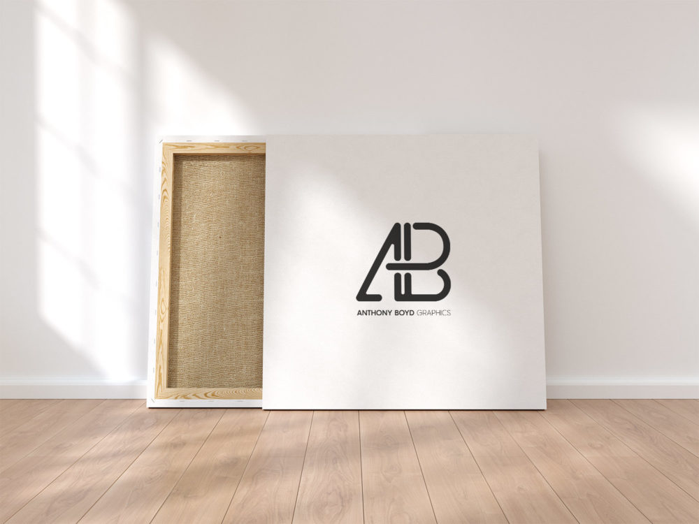 Square Canvas Free PSD Mockup